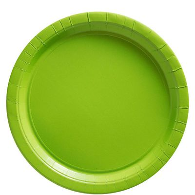 Lime Green Plates - 23cm Paper Party Plates - 50 Pack