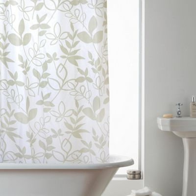 Modern Makeover Hookless Shower Curtain in Lydia