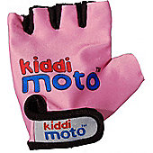 Kiddimoto Gloves for ages 4 to 7 yrs - Neon Pink (Medium)