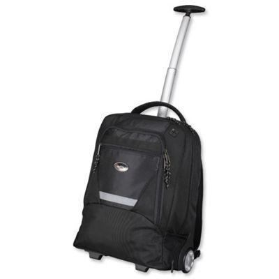 Lightpak Master Laptop Backpack with Trolley, Black