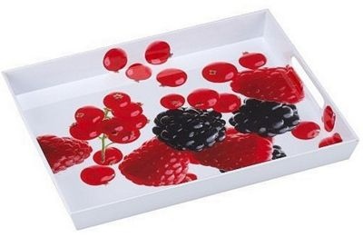 EMSA Serving Tray with Handles, Berries Print, 50 x 37cm