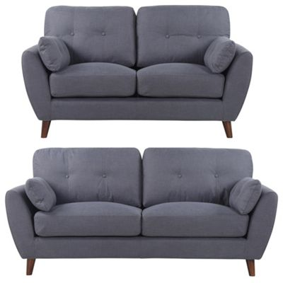 Sofa Collection Tallahasse Woven Fabric 3+2 Sofa - Ash