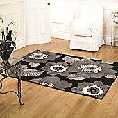 Sincerity Modern Blossom Black 160x230 cm Rug