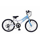 "Ammaco Star Dreamer 18"" Wheel Girls Mountain Bike 6 Speed Blue/White"