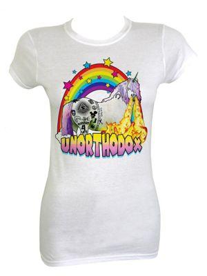 Unorthodox Unicorn White Women's T-shirt