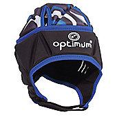 Optimum Razor Rugby Headguard Scrum Cap Black/Blue - Large