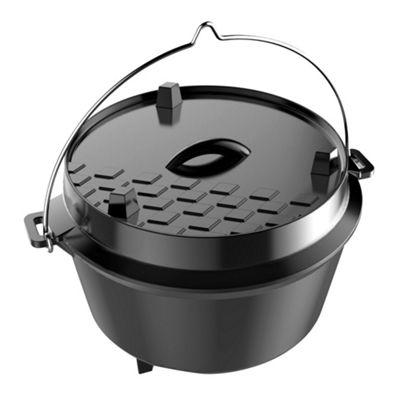 Dutch Oven Cast Iron Cooking Pot Medium 8 Litre Capacity
