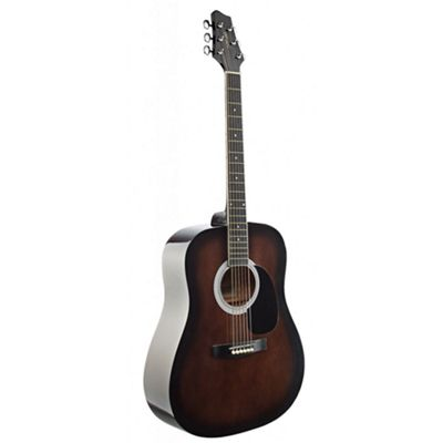 Stagg SW201 Dreadnought Acoustic Guitar - Blackburst - with 6 Months Free Online Lessons