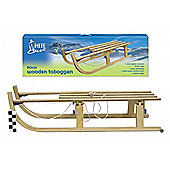 White Out - 110cm Wooden Toboggan / Sleigh / Sled