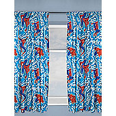 Spiderman Popart Curtains - Blue & Red