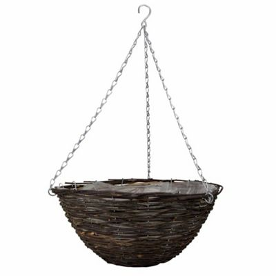 1 x 16-inch Natural Rattan Hanging Basket