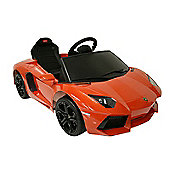 Kids Electric Car Lamborghini Aventador 6 Volt Orange Gloss