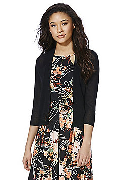 F&F Open Front Cropped Cardigan - Black