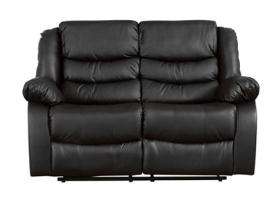 Sofa Collection Windermere Recliner Sofa - 2 Seat - Black