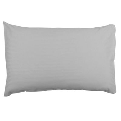 Catherine Lansfield Satin Stripe 300 TC Housewife Pillowcase - Grey