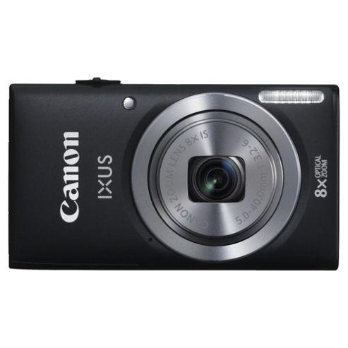 Canon Ixus 132 Digital Camera, Black, 16MP, 8x Optical Zoom, 3.0 inch LCD Screen