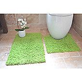Rapport 2 Piece Bath Mat Set - Green