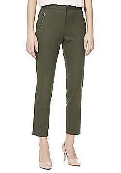 F&F Slim Fit Ankle Grazer Trousers - Khaki