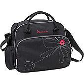 Badabulle Vintage Changing Bag (Black/Pink)