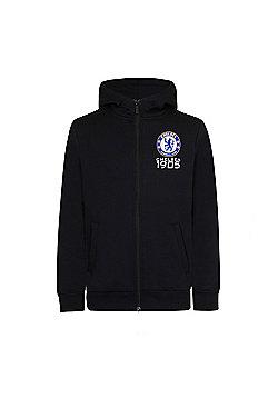 Chelsea FC Boys Zip Hoody - Black