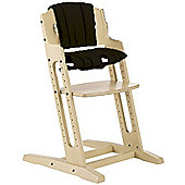 BabyDan DanChair High Chair White Wash With Black Cushion