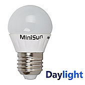 Minisun ES E27 4W LED Golfball Bulb Cool White / Daylight