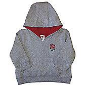 England RFU Rugby Baby Over The Head Hoodie - Grey