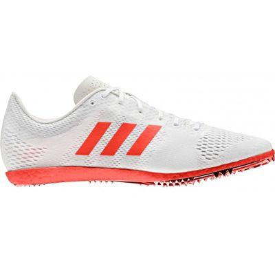 adidas adizero Avanti Long Distance Running Spike Shoe White/Red - UK 12