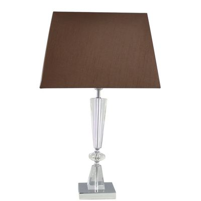 Balmoral Table Lamp with 2 tone Chocolate Shade