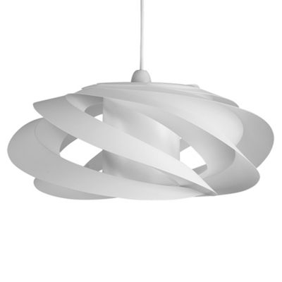 Komett Spiral Ceiling Pendant Light Shade, White