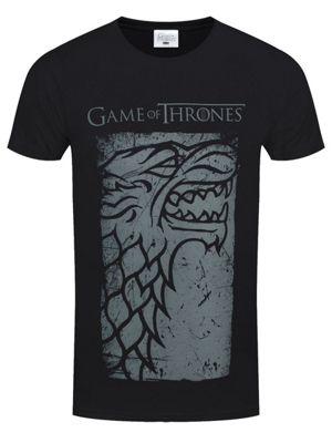 Game of Thrones Stark Direwolf Men's GoT T-shirt, Black