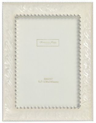 Addison Ross Wedding Photo Frame Royal Diamante Cream Enamel Frame - 5 in x 7 in