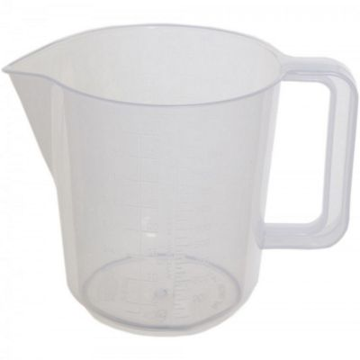 Whitefurze Plastic 3.5 Pint Measuring Jug