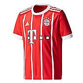 adidas FC Bayern Munich 2017/18 Kids Home Football Jersey Shirt Red - Red