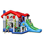 Happy Hop Inflatable Bounce House with Slide The Big House 9 in 1 Happy Bounce