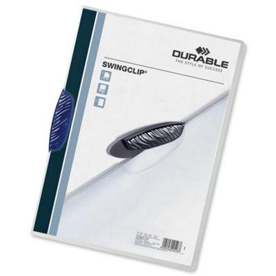 Durable Swingclip Folder A4 Dark Blue Pack of 25 2260/07
