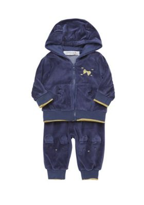 Babaluno Velour Mouse Hoodie and Joggers Set 0-3 months Blue