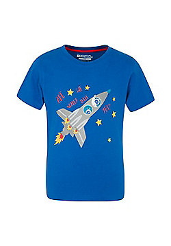 Mountain Warehouse ARE WE NEARLY THERE YET KIDS TEE - Cobalt
