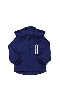 F&F Fleece Lined Mac - Navy