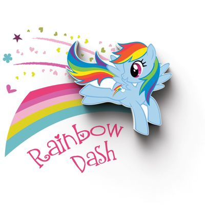 My Little Pony Mini 3D LED Wall Light - Rainbow Dash