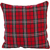 Homescapes Cotton Edward Tartan Scatter Cushion, 45 x 45 cm