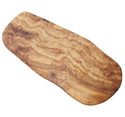 Naturally Med Hand-Crafted Olive Wood Chopping and Serving Board 45cm