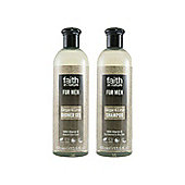 Faith In Nature Banded For Men Ginger & Lime Shampoo & Shower Gel 2x400ml