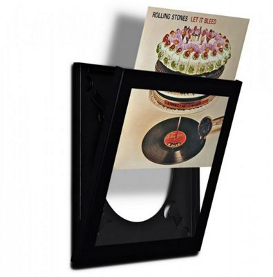 Art Vinyl Play and Display Record Flip Frame (Single) Black