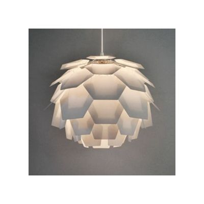 Artichoke Style Ceiling Pendant Light Shade, White