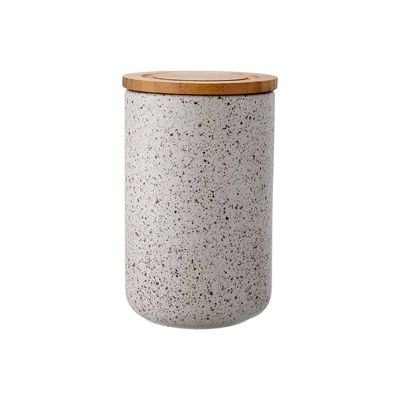 Ladelle Stak Speckled Stone Canister, 17cm