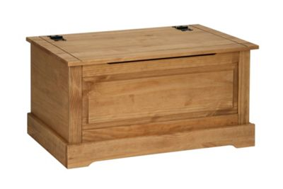 Home Essence Windmill Blanket Box in Solid Pine
