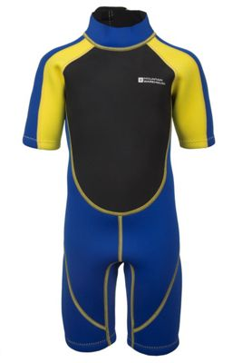 Mountain Warehouse Junior Shorty Wetsuit in Neoprene - Easy Glide Zip, Flat