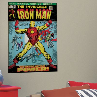 Comic Book Cover Iron Man Wall Mural Stickers