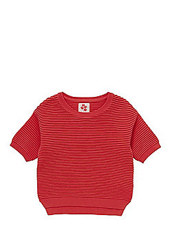 F&F Ribbed Knit Jumper with As New Technology - Coral